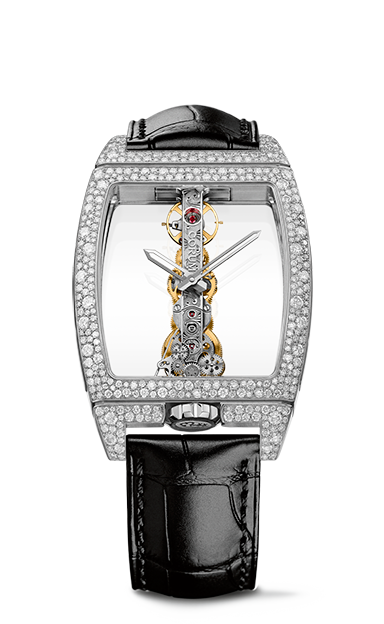 Golden Bridge Classic White Gold Snow-Set Watch - B113/03854 - 113.358.69/0F01 0000