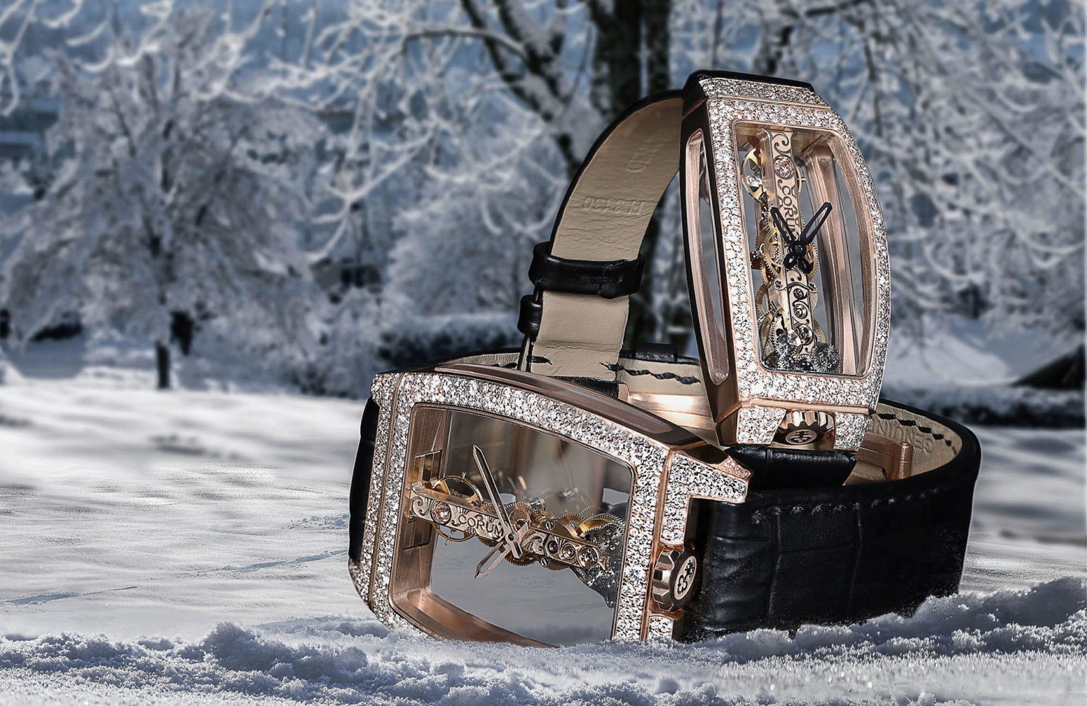 For Christmas, Corum covers its Golden Bridges in snow