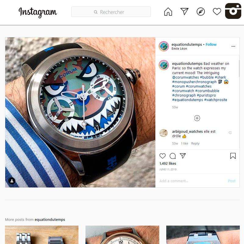 Watch : Bubble, 47 ( bubble ,shark ,monopusherchronograph 🦈 😱 ,corum ,corumwatches ,corumwatch )