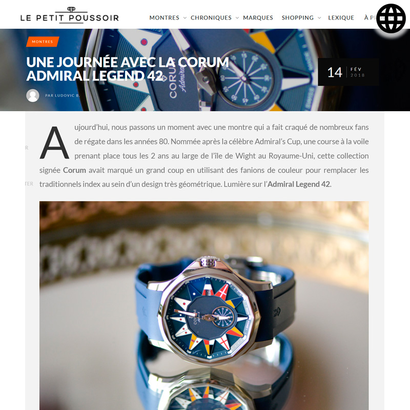Watch : Admiral, 42 ( Journee Corum Admiral Legend 42 )