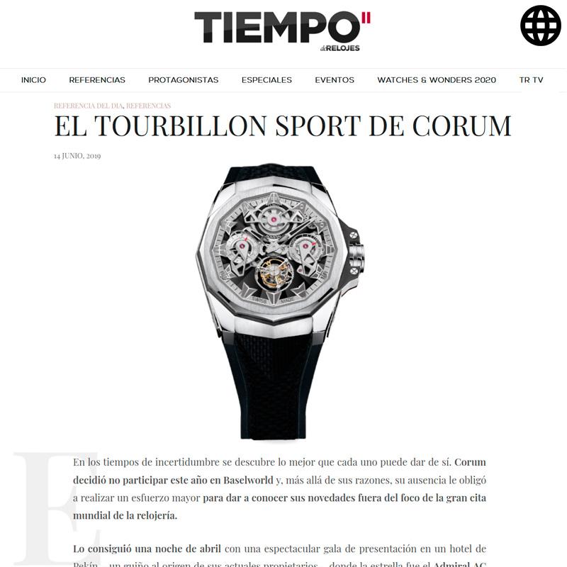 Watch : Admiral, 45 ( Tourbillon Sport Corum )