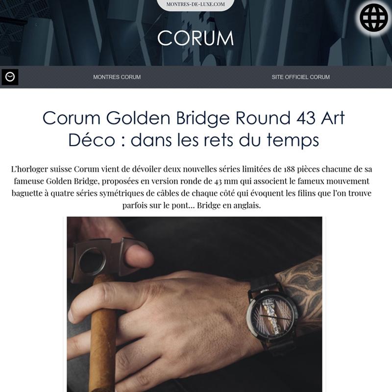 Watch : Golden Bridge, 43 ( Corum Golden Bridge Round 43 Art Deco Dans Les Rets… )