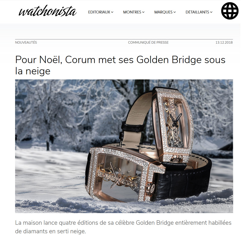 Watch : Golden Bridge, Miss ( Pour Noel Corum Met Ses Golden Bridge Sous La Neige )